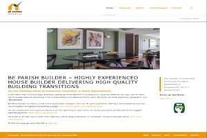 be-parish-builder website design