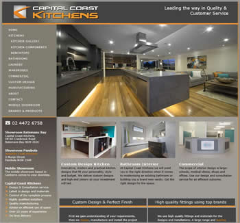Captial Coast Kitchens website design