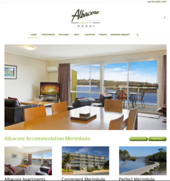 Albacore Apartments website