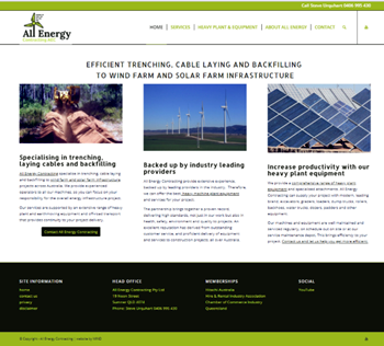 All Energy Contracting website design