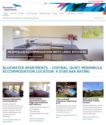 Bluewater Apartments website development
