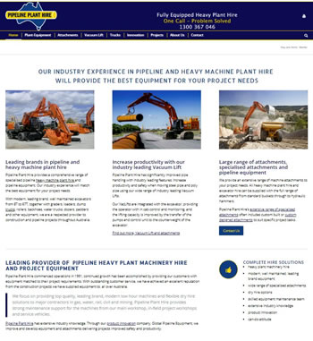 Pipeline-Plant-Hire-website-development