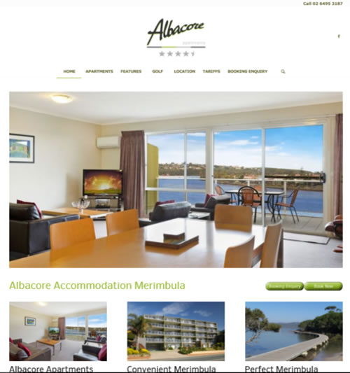 Apartments Website: Website Design Merimbula, Marketing, Advertising, Online